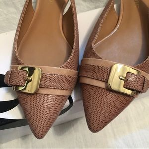 Nine West Point flats with ankle strap size 8